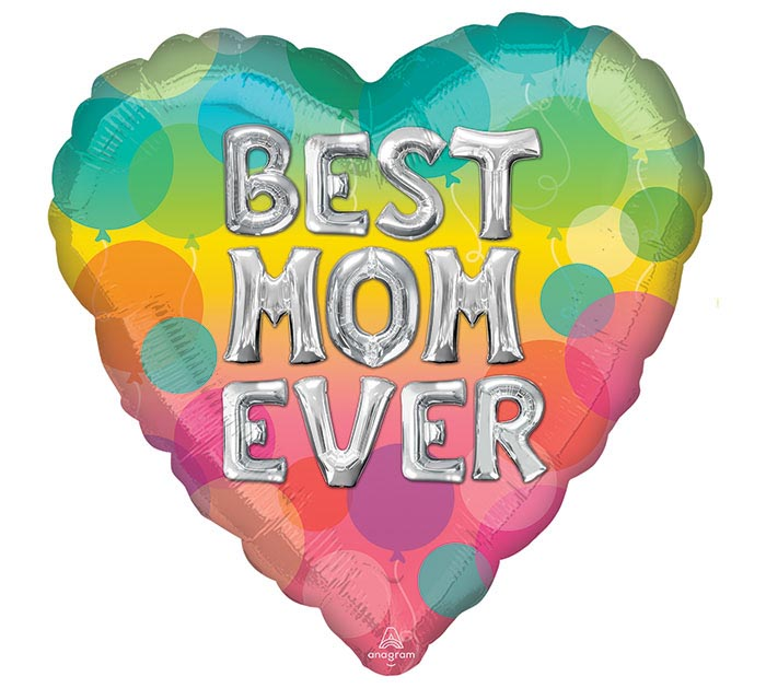"17"" BEST MOM EVER BALLOON LETTERS"