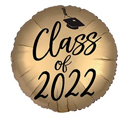 """18"""" GOLD SATIN LUXE CLASS OF 2020"""