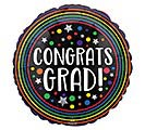 "4""INFLATED CONGRATS GRAD COLORFUL CIRCLE"