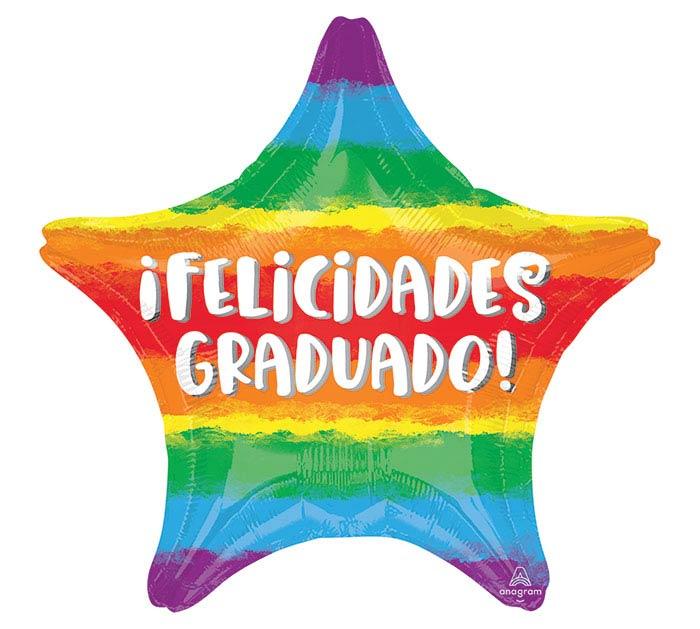 """18"""" FELICIDADES GRADUADO STAR"""