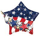 "27""PKG SATIN PATRIOTIC STAR MULTI-BALLOO"
