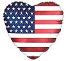 "18"" SATIN INFUSED HEART FLAG"