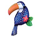 "37""PKG TROPICAL JUNGLE TOUCAN SHAPE"