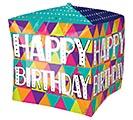 "15""PKG CUBEZ BIRTHDAY COLORFUL TRIANGLES 1st Alternate Image"