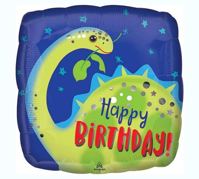 "9""INFLATED BIRTHDAY BRONTOSAURUS"