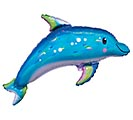 "29""PKG IRIDESCENT BLUE DOLPHIN SHAPE"