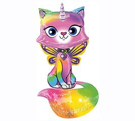 "44"" PACKAGED UNICORN KITTY AIRWALKER"