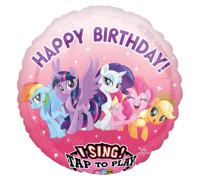 "28""PKG HBD MY LITTLE PONY SING A TUNE"