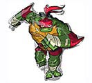 "14""INFLATED RAPHAEL NINJA TURTLE"