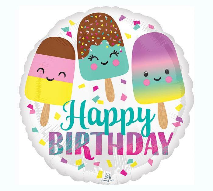 """17""""PKG HAPPY ICE CREAM BIRTHDAY"""