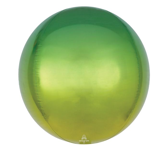 "16"" PKG YELLOW AND GREEN OMBRE ORBZ"