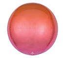 "16"" PKG RED AND ORANGE OMBRE ORBZ"