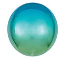 "16""PKG ORBZ OMBRE BLUE  GREEN"