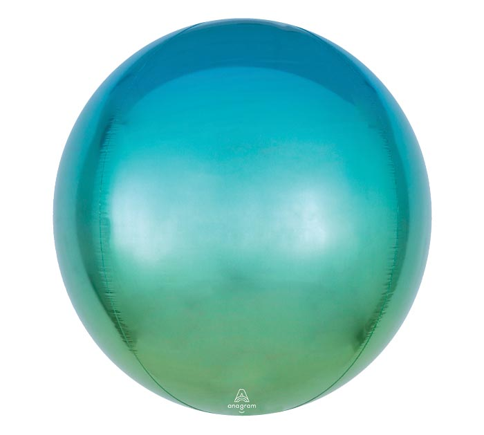 "16"" PKG BLUE AND GREEN OMBRE ORBZ"