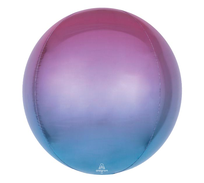 "16""PKG ORBZ PINK PURPLE AND BLUE OMBRE"