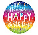 "18""PKG HIP HIP HOORAY BIRTHDAY"