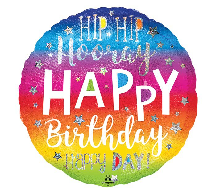 "18""PKG HIP HIP HOORAY BIRTHDAY"