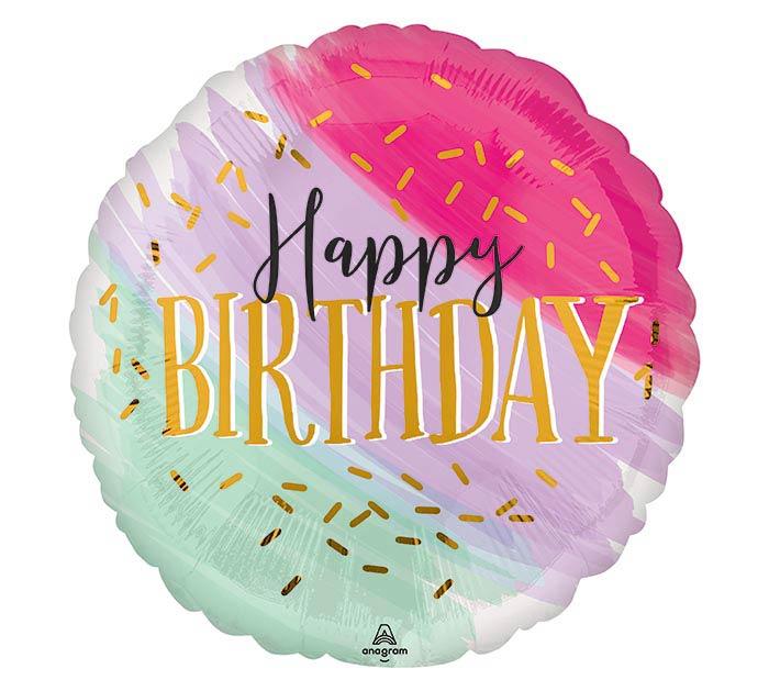 "17""PKG WATER COLOR BIRTHDAY"