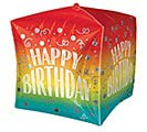 "15""PKG BIRTHDAY GRADIENT SWIRLS CUBEZ"