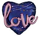 """36"""" PKG NAVY LOVE HEART MULTI BALLOON"""
