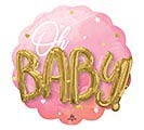 "28""PKG PINK BABY GIRL MULTI-BALLOON"