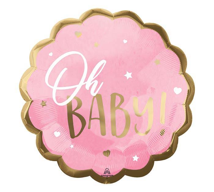 """22""""PKG PINK BABY GIRL JUMBO"""