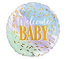 "17""PKG WATERCOLOR WELCOME BABY"