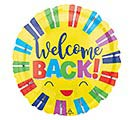 "17""PKG WELCOME BACK COLORFUL STRIPES"