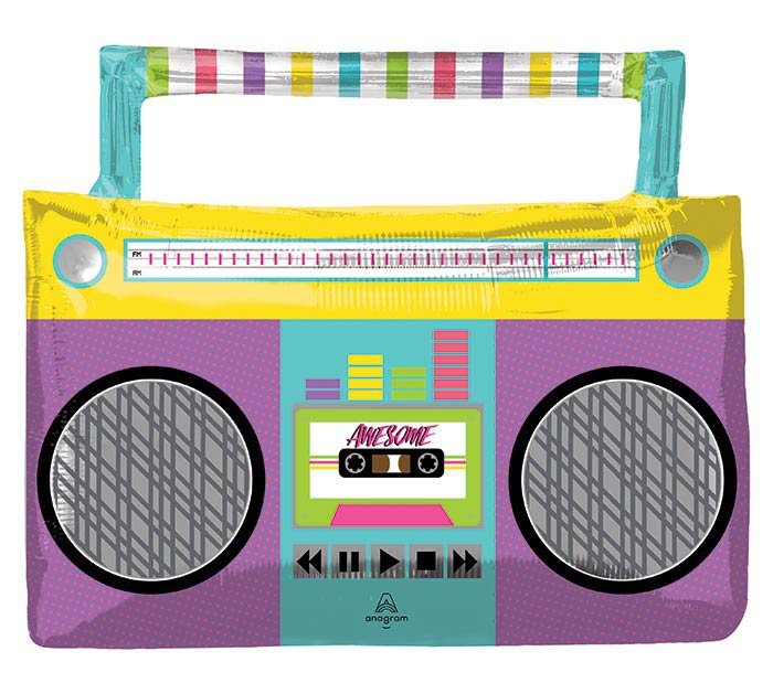 """27""""PKG AWESOME PARTY BOOM BOX SHAPE"""