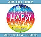 "4"" FLAT HAPPY BIRTHDAY MINI BALLOON"