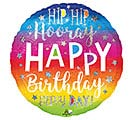 "9""INFLATED HIP HIP HOORAY BIRTHDAY"