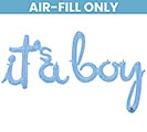 "56""PKG IT'S A BOY BLUE SCRIPT PHRASE"
