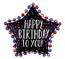 "34""PKG HAPPY BIRTHDAY TO YOU SATIN STAR"