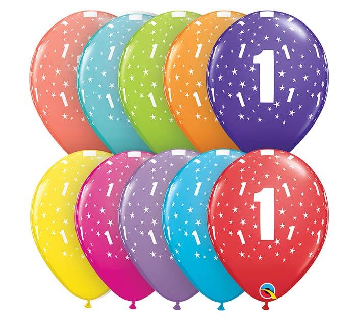 "11""HBD STARS #1-A-ROUND"