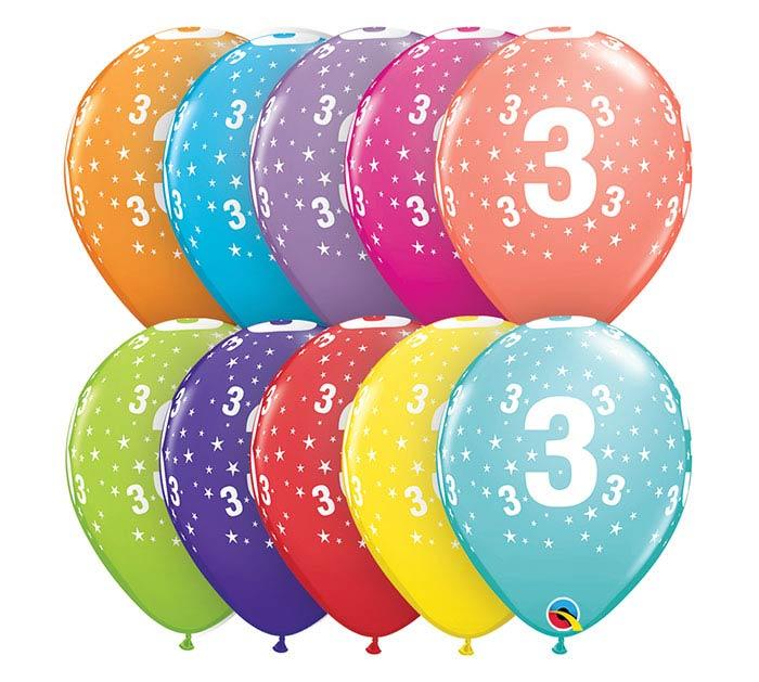 "11""HBD STARS #3-A-ROUND"