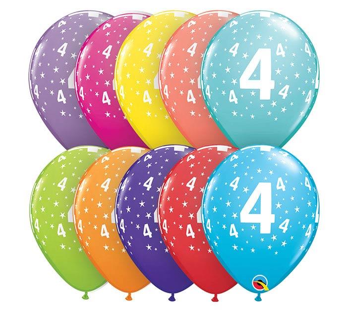 "11""HBD STARS #4-A-ROUND"