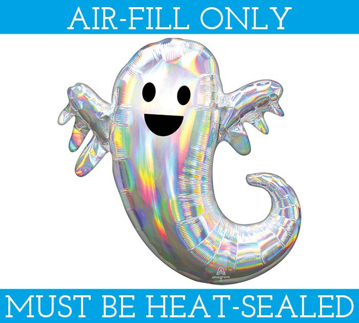 "14""FLAT IRIDESCENT GHOST MINI SHAPE"
