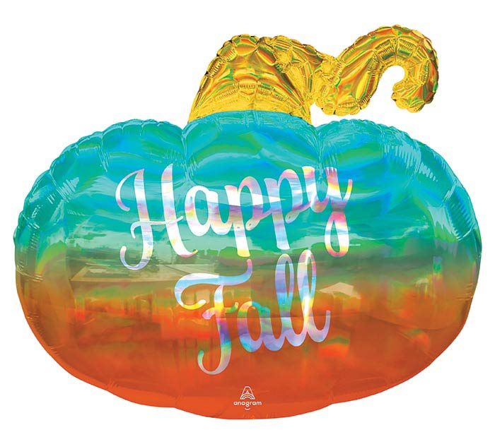 "29""PKG HAPPY FALL PUMPKIN IRIDESCENT"