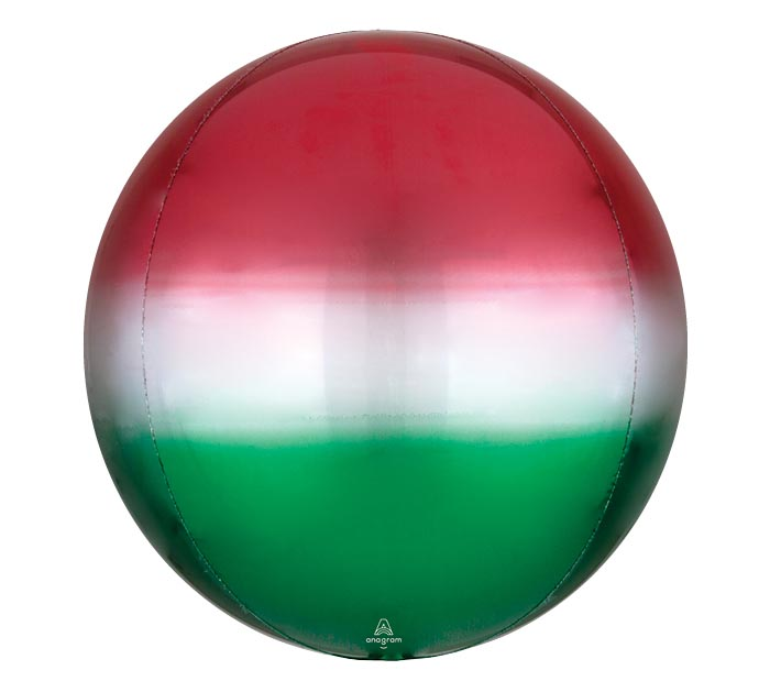 """16""""PKG ORBZ OMBRE RED AND GREEN"""