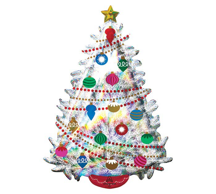 "36""PKG IRIDESCENT CHRISTMAS TREE"