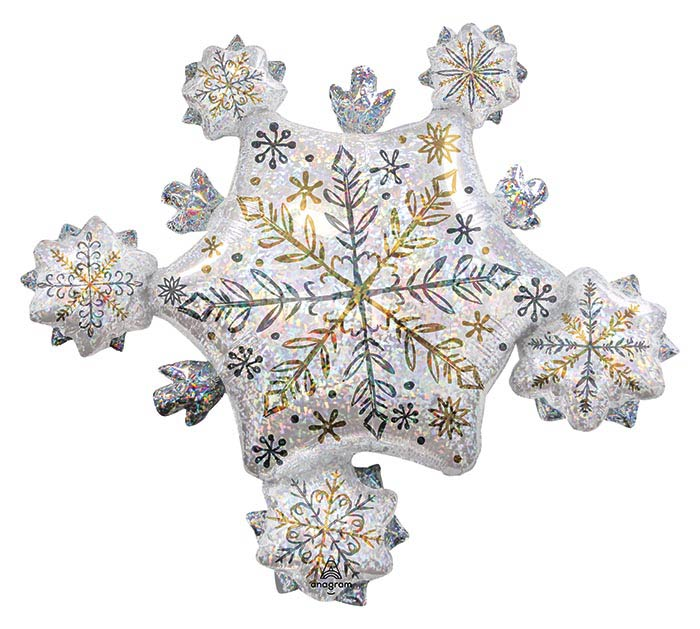 """32""""PKG SHINING SNOW CLUSTER HOLOGRAPHIC"""
