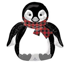 "28""PKG COZY HOLIDAY PENGUIN"
