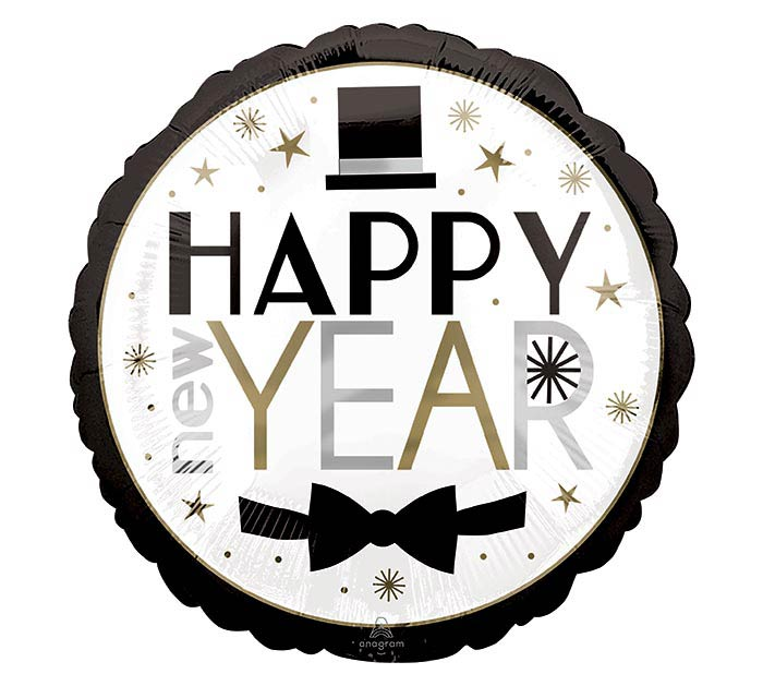 "17"" DAPPER NIGHT HAPPY NEW YEAR"