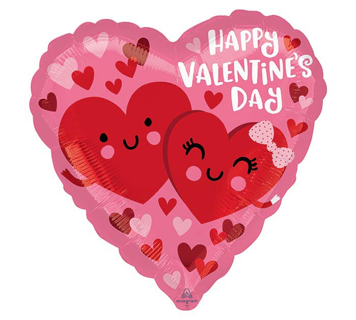 "17"" VALENTINE HEARTS IN LOVE"