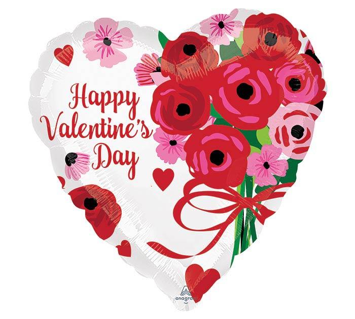 """17"""" VALENTINE LOVELY ROSES HEART"""