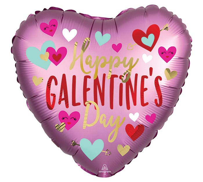 "18"" GALENTINE'S DAY SATIN INFUSED HEART"