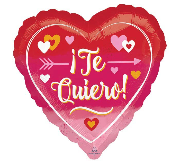 """9""""INFLATED OMBRE TE QUIERO HEART"""