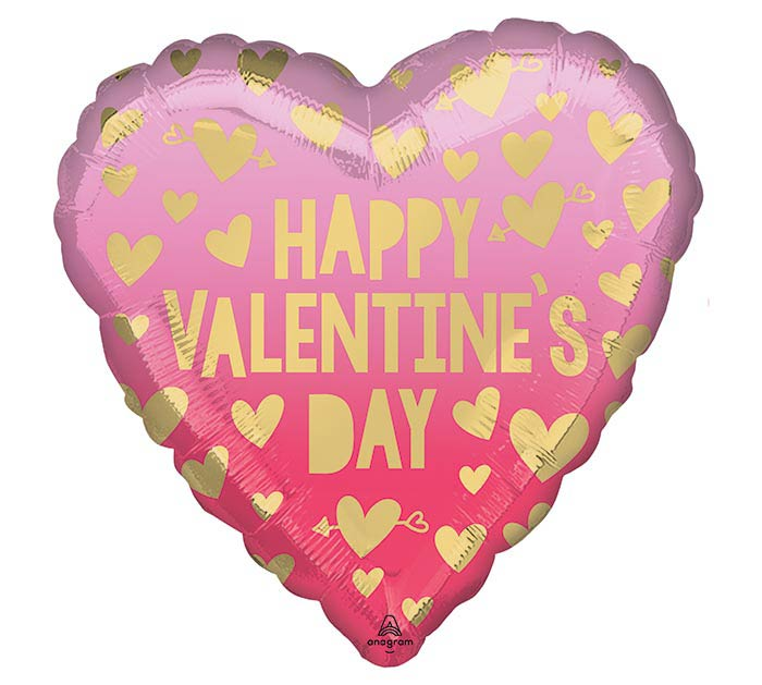 """17"""" VALENTINE PINK OMBRE HEART"""
