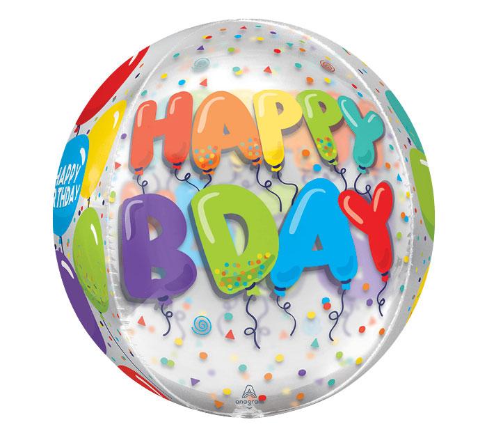 "16""PKG ORBZ CLEAR BIRTHDAY CELEBRATION"