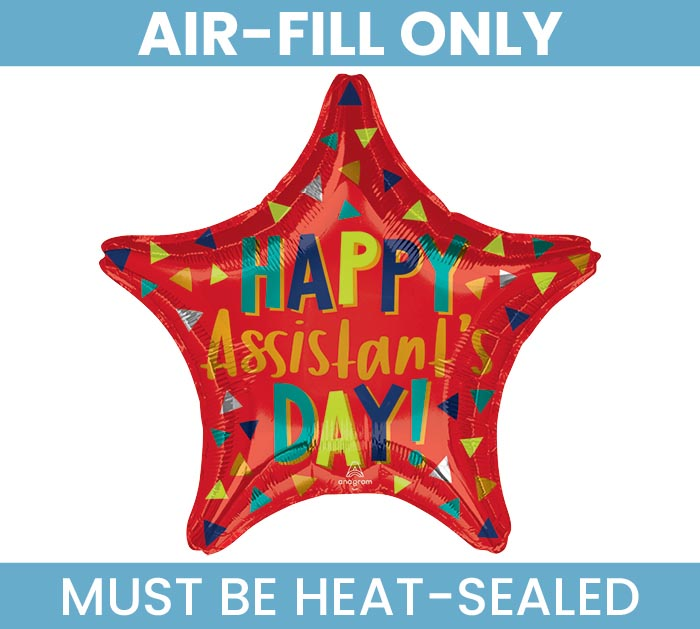 """9""""FLAT ASSISTANT'S DAY RED STAR"""